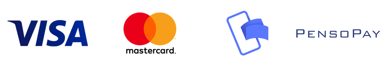 Betal med Visa, Mastercard eller MobilePay